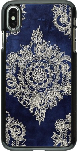 Coque iPhone Xs Max - Cream Flower Moroccan