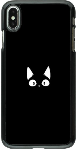 Coque iPhone Xs Max - Funny cat on black