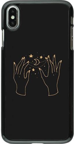 Coque iPhone Xs Max - Grey magic hands