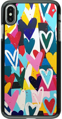 Coque iPhone Xs Max - Joyful Hearts