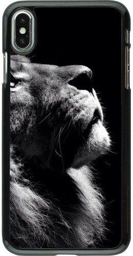 Coque iPhone Xs Max - Lion looking up