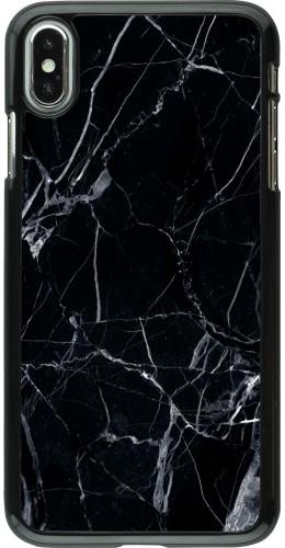 Coque iPhone Xs Max - Marble Black 01