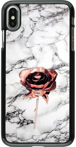 Coque iPhone Xs Max - Marble Rose Gold