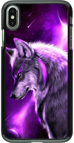 Coque iPhone Xs Max - Purple Sky Wolf