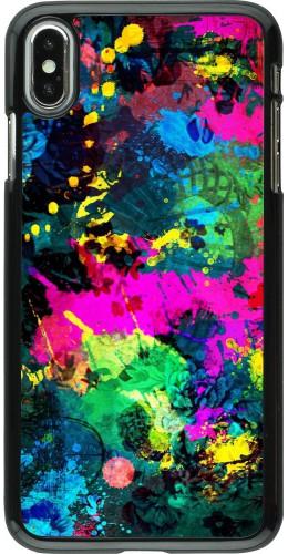 Coque iPhone Xs Max - splash paint