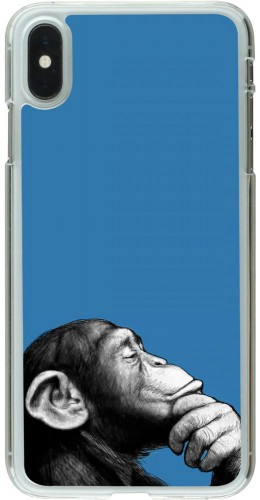 Coque iPhone Xs Max - Plastique transparent Monkey Pop Art