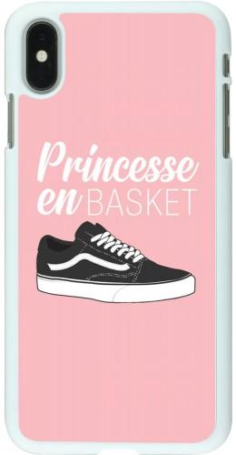 Coque iPhone Xs Max - Plastique blanc princesse en basket