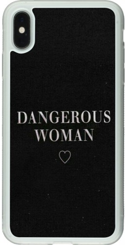 Coque iPhone Xs Max - Silicone rigide transparent Dangerous woman