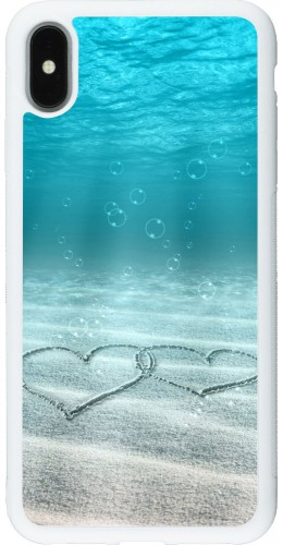 Coque iPhone Xs Max - Silicone rigide blanc Summer 18 19