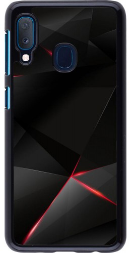 Coque Samsung Galaxy A20e - Black Red Lines