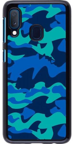 Coque Samsung Galaxy A20e - Camo Blue