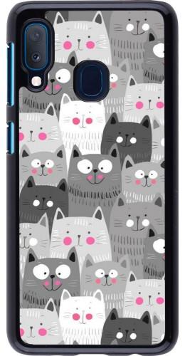 Coque Samsung Galaxy A20e - Chats gris troupeau