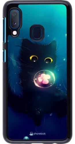 Coque Samsung Galaxy A20e - Cute Cat Bubble