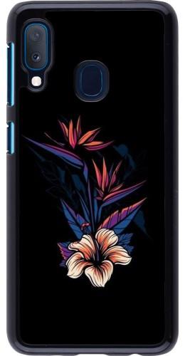 Coque Samsung Galaxy A20e - Dark Flowers