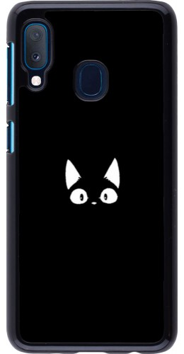 Coque Samsung Galaxy A20e - Funny cat on black
