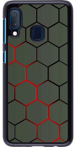 Coque Samsung Galaxy A20e - Geometric Line red