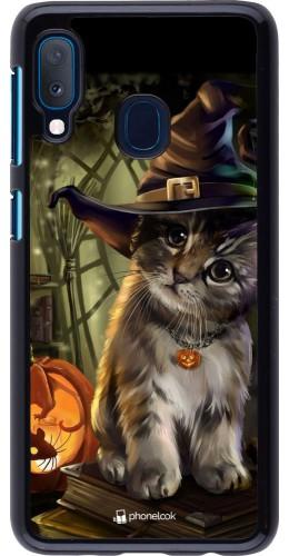 Coque Samsung Galaxy A20e - Halloween 21 Witch cat