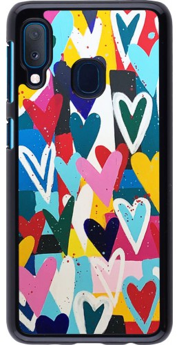Coque Samsung Galaxy A20e - Joyful Hearts