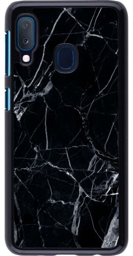 Coque Samsung Galaxy A20e - Marble Black 01