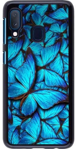 Coque Samsung Galaxy A20e - Papillon bleu