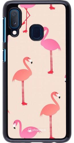 Coque Samsung Galaxy A20e - Pink Flamingos Pattern