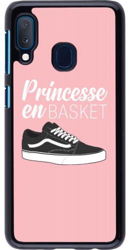 Coque Samsung Galaxy A20e - princesse en basket
