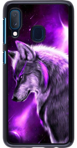 Coque Samsung Galaxy A20e - Purple Sky Wolf