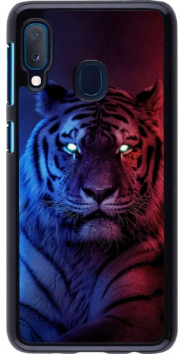Coque Samsung Galaxy A20e - Tiger Blue Red