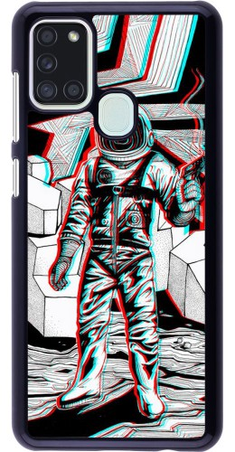 Coque Samsung Galaxy A21s - Anaglyph Astronaut