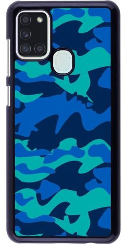 Coque Samsung Galaxy A21s - Camo Blue