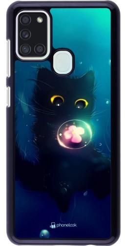 Coque Samsung Galaxy A21s - Cute Cat Bubble