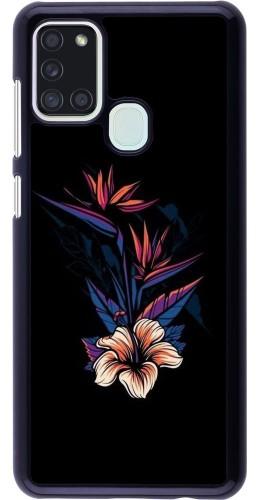 Coque Samsung Galaxy A21s - Dark Flowers