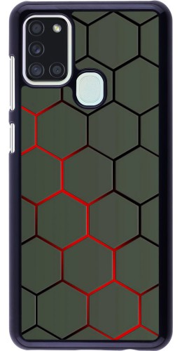 Coque Samsung Galaxy A21s - Geometric Line red