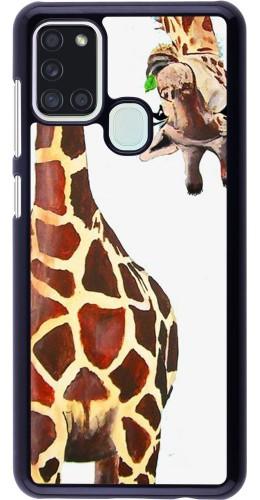 Coque Samsung Galaxy A21s - Giraffe Fit