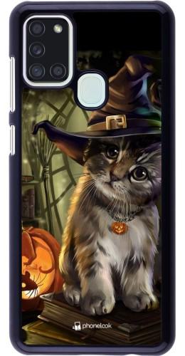 Coque Samsung Galaxy A21s - Halloween 21 Witch cat