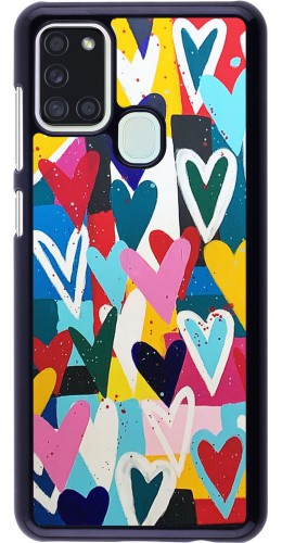 Coque Samsung Galaxy A21s - Joyful Hearts