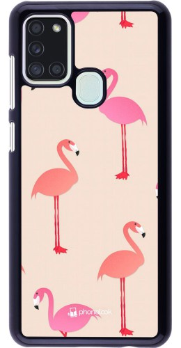 Coque Samsung Galaxy A21s - Pink Flamingos Pattern