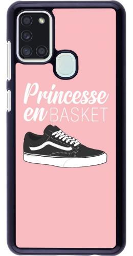 Coque Samsung Galaxy A21s - princesse en basket