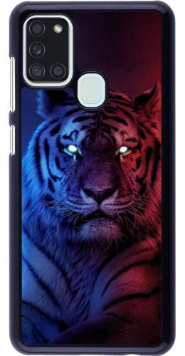 Coque Samsung Galaxy A21s - Tiger Blue Red