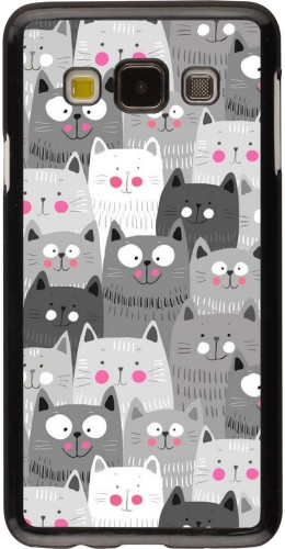 Coque Samsung Galaxy A3 (2015) - Chats gris troupeau