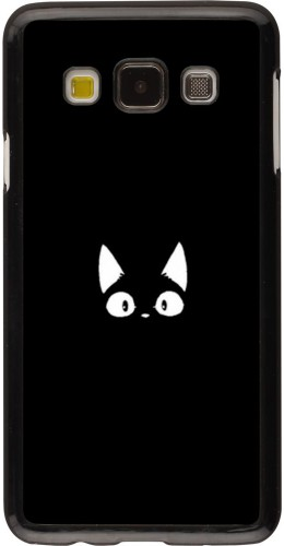 Coque Samsung Galaxy A3 (2015) - Funny cat on black