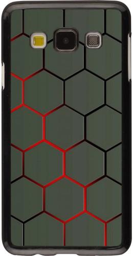 Coque Samsung Galaxy A3 (2015) - Geometric Line red