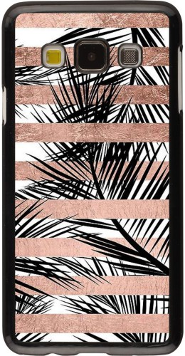 Coque Samsung Galaxy A3 (2015) - Palm trees gold stripes