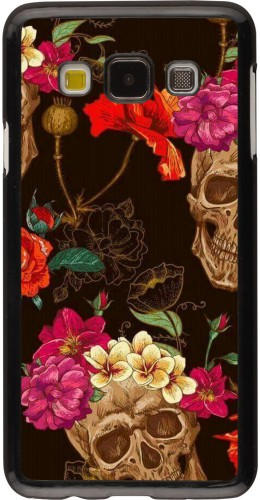Coque Samsung Galaxy A3 (2015) - Skulls and flowers