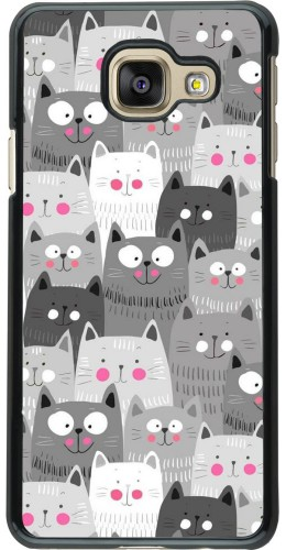 Coque Samsung Galaxy A3 (2016) - Chats gris troupeau