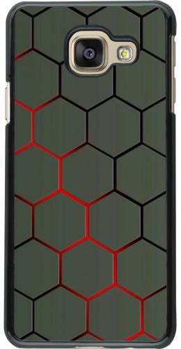 Coque Samsung Galaxy A3 (2016) - Geometric Line red
