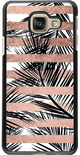 Coque Galaxy A3 (2016) - Palm trees gold stripes