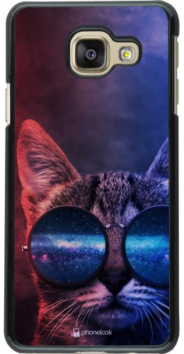 Coque Samsung Galaxy A3 (2016) - Red Blue Cat Glasses