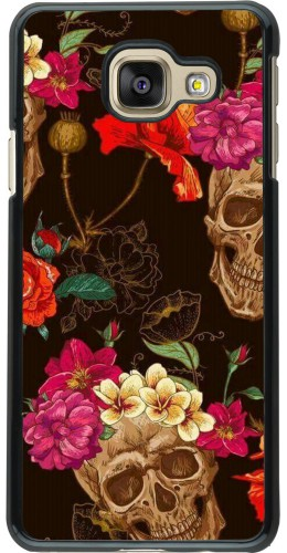 Coque Samsung Galaxy A3 (2016) - Skulls and flowers
