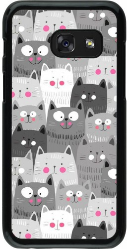 Coque Samsung Galaxy A3 (2017) - Chats gris troupeau